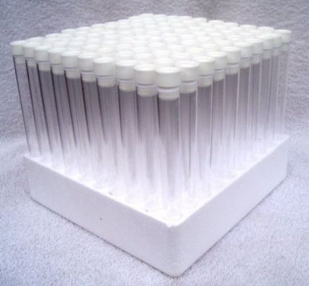 6 Inch Test Tubes with Tops & Tray (Set of 100)